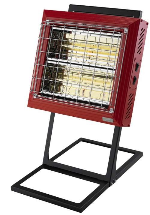 Tansun Beaver Portable Infrared Quartz Heater In Red
