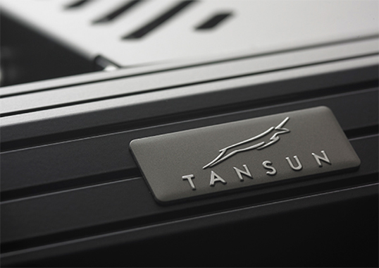 Grey Tansun Logo On Infrared Heater