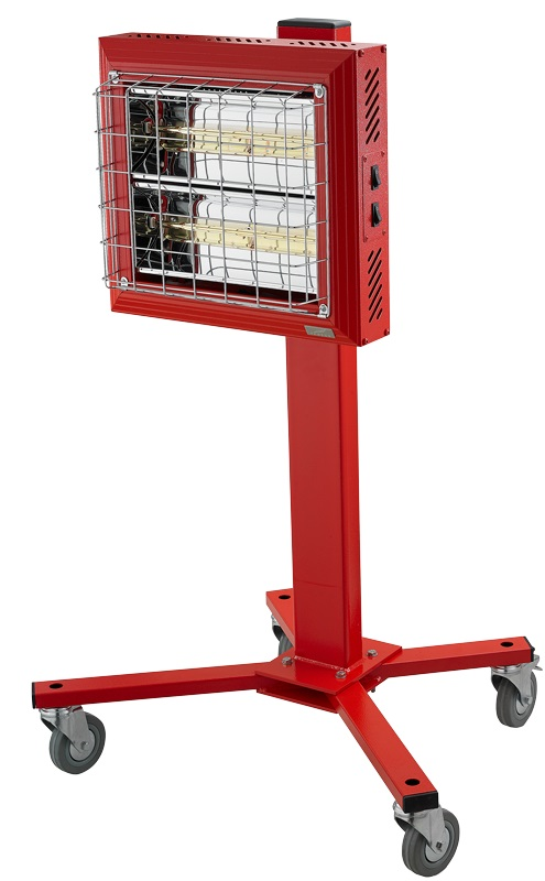 Tansun Spotter Mobile Infrared Heater Front Profile in Red