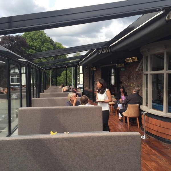 Tansun Monaco Double Infrared Heaters Heating Outdoor Dining Area At Chilli Banana Thai Restaurant In Wilmslow