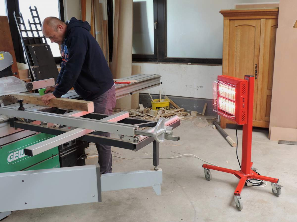 Tansun Spotter Mobile Red Infrared Heater Heating Worker In Construction Site