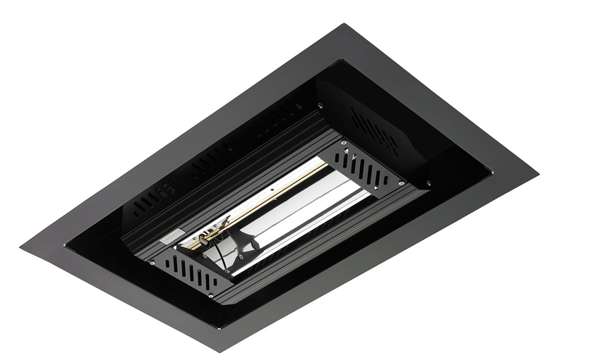 Tansun Apollo Recess Single Infrared Ceiling Heater in Black