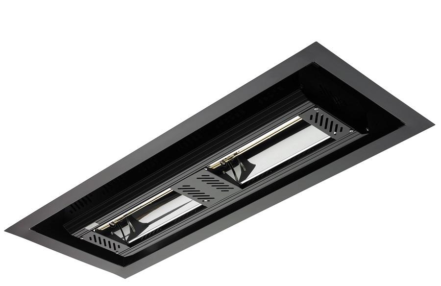 Tansun Apollo Recess Double Infrared Ceiling Heater In Black