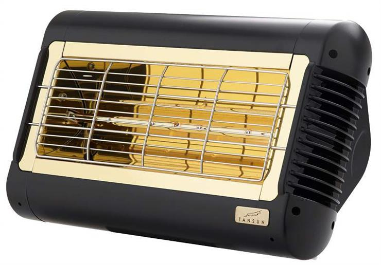 Tansun Monaco Single Low Glare Infrared Quartz Heater In Black