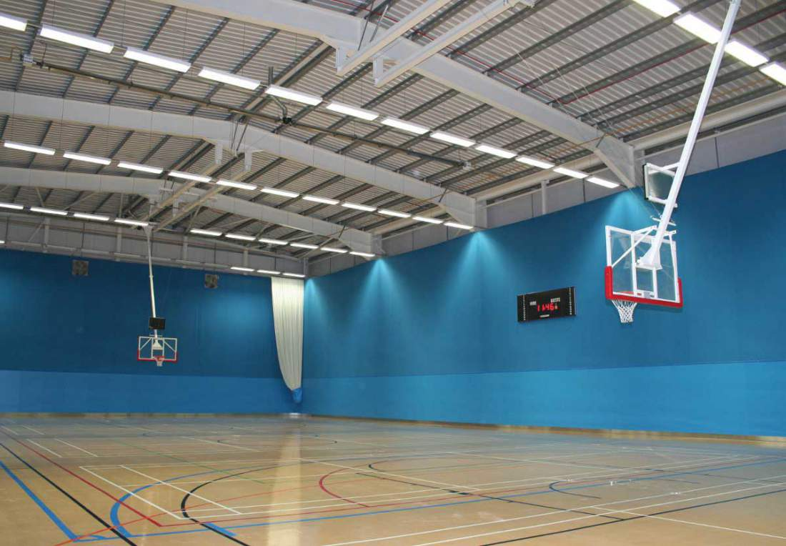 Large Sports Hall With Basketball Court