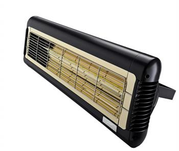Monaco XL Single Ultra Low Glare Infrared Heater in Black