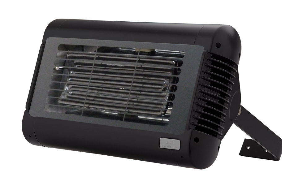Tansun Sorrento Ceramic Single No Glare Ceramic Infrared Heater In Black